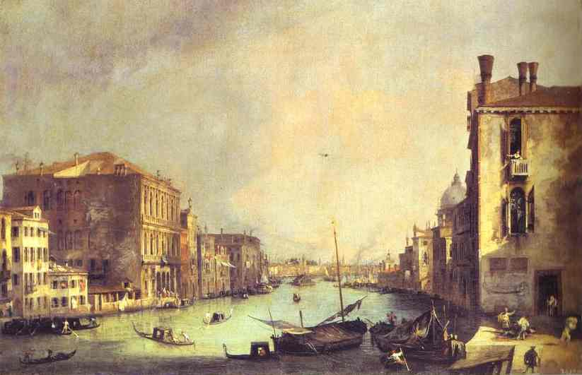 Grand Canal Looking East From Theampo San Vio 1725 | Canaletto | Oil Painting