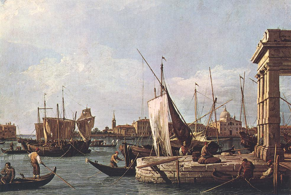 La Punta Della Dogana (Custom Point) 1726-28 | Canaletto | Oil Painting