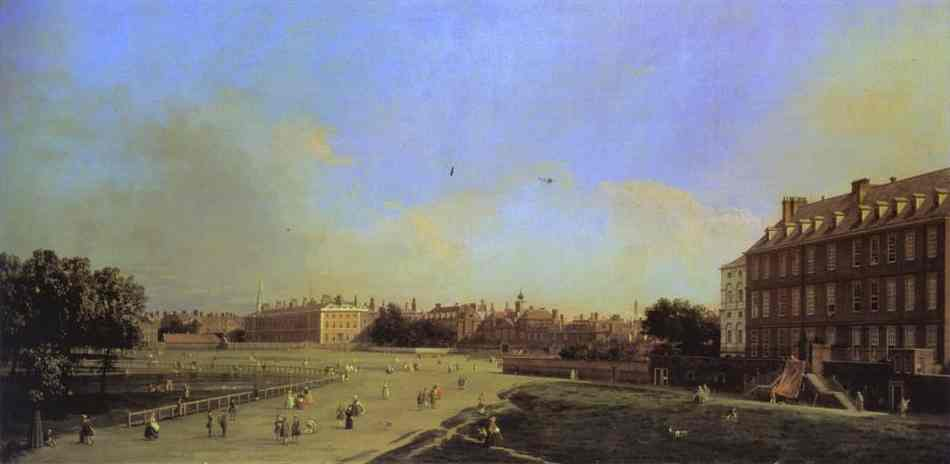 London The Old Horse Guards From St James Park 1749 | Canaletto | Oil Painting