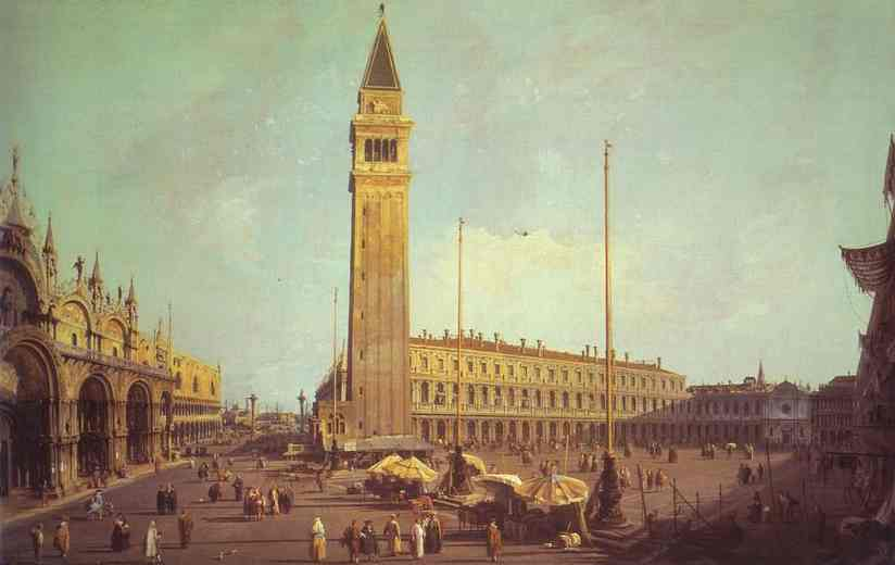 Piazza San Marco Looking South-West 1750s | Canaletto | Oil Painting