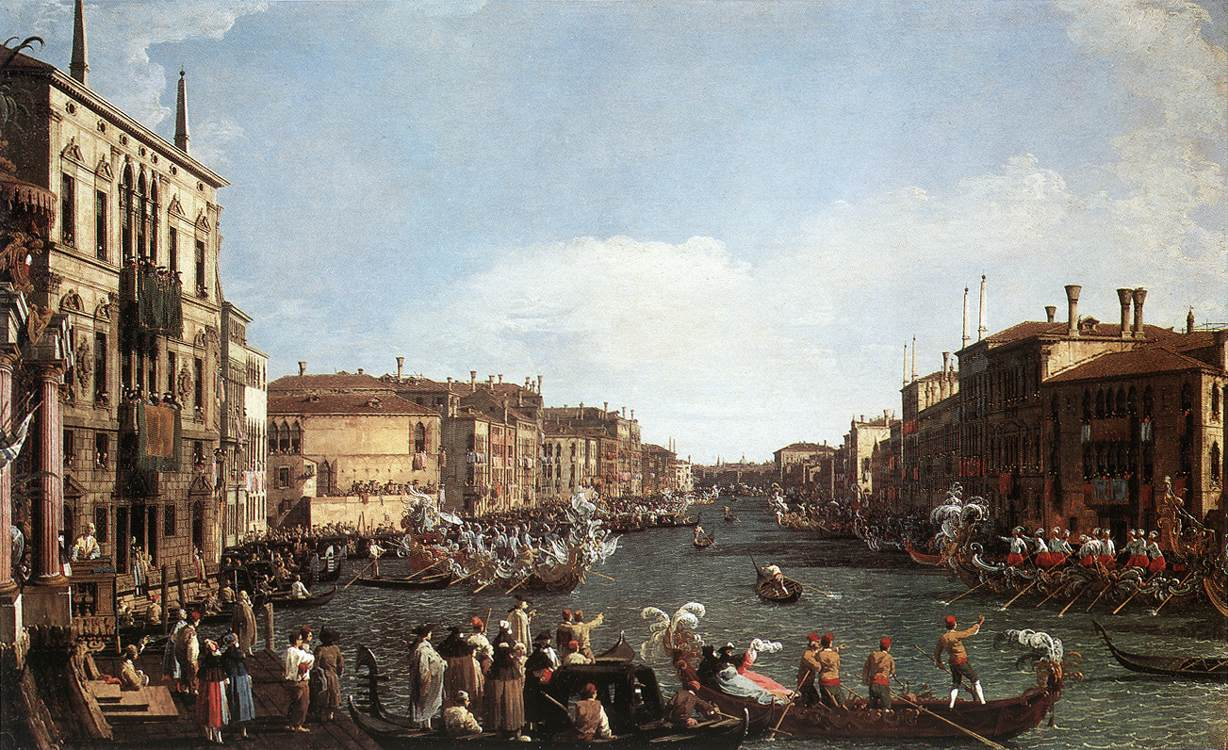 Regatta On The Grand Canal 1730-35 | Canaletto | Oil Painting