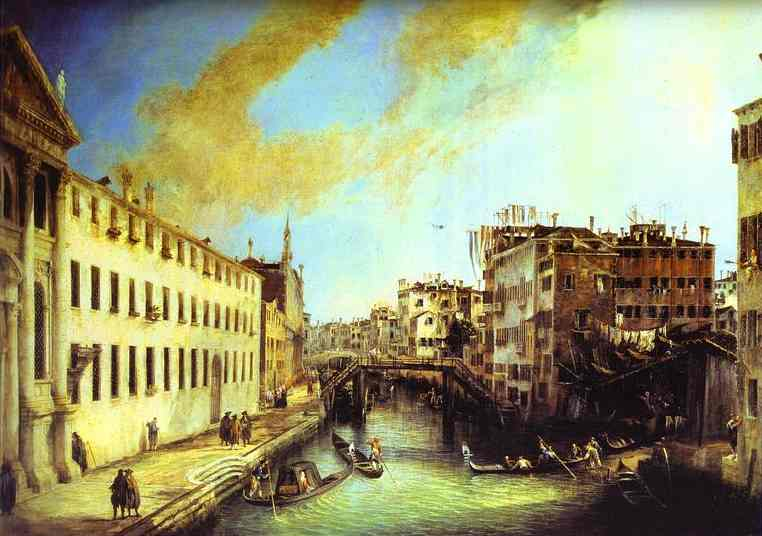 Rio Dei Mendicanti Looking South 1723 | Canaletto | Oil Painting