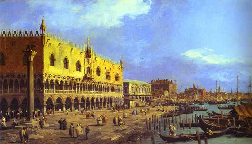 Riva Degli Schiavoni Looking East 1730 | Canaletto | Oil Painting