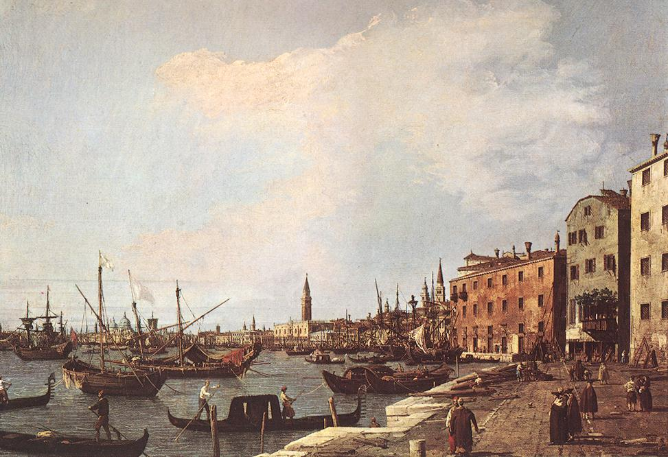 Riva Degli Schiavoni West Side 1726-28 | Canaletto | Oil Painting