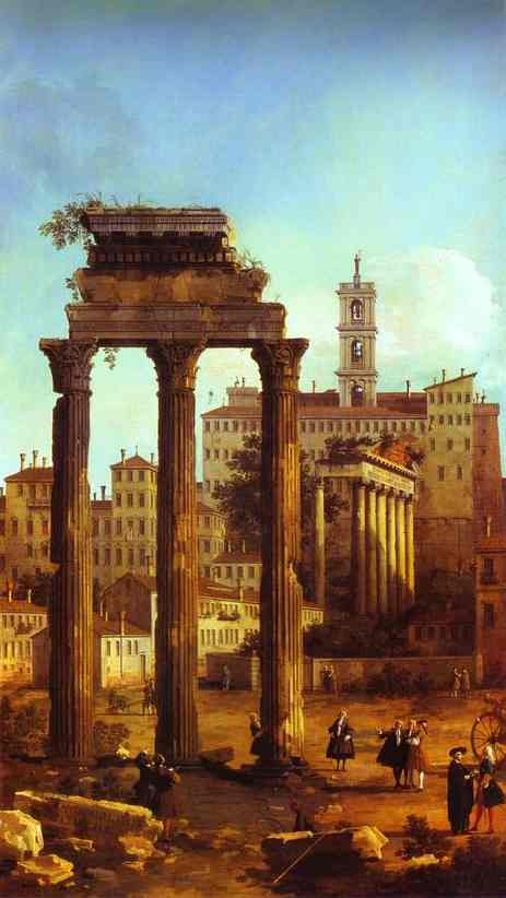 Rome Ruins Of The Forum Looking Towards The Capitol 1742 | Canaletto | Oil Painting