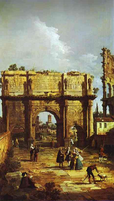 Rome The Arch Of Constantine 1742 | Canaletto | Oil Painting