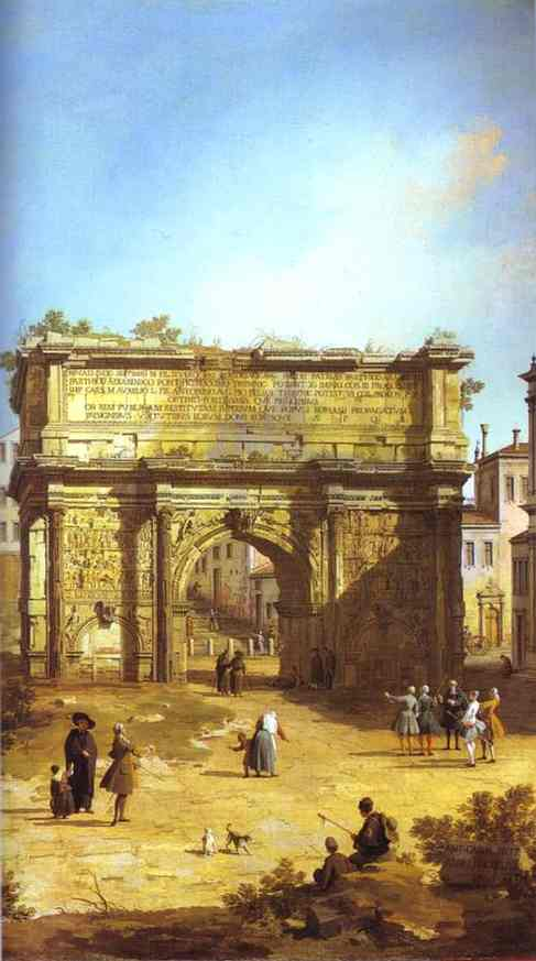 Rome The Arch Of Septimius Severus 1742 | Canaletto | Oil Painting