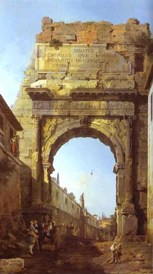 Rome The Arch Of Titus 1742 | Canaletto | Oil Painting