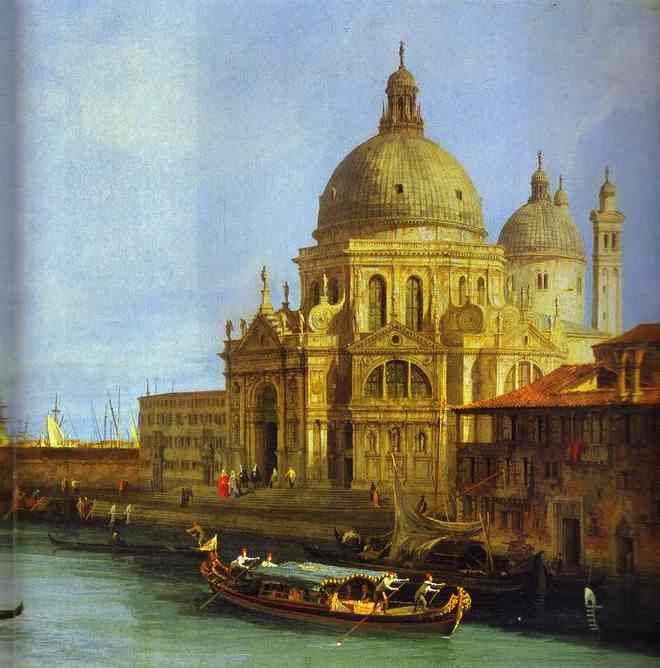 Santa Maria Della Salute Seen From The Grand Canal 1 1730 | Canaletto | Oil Painting