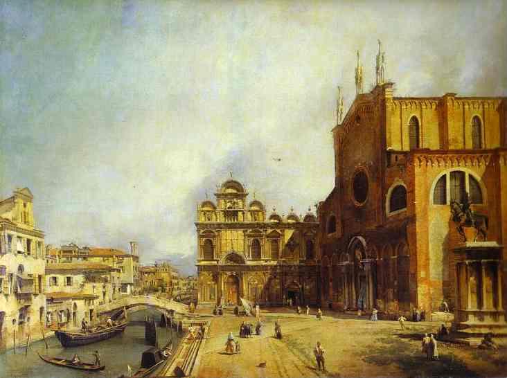 Santi Giovanni E Paolo And The Scuola Di San Marco 1725 | Canaletto | Oil Painting