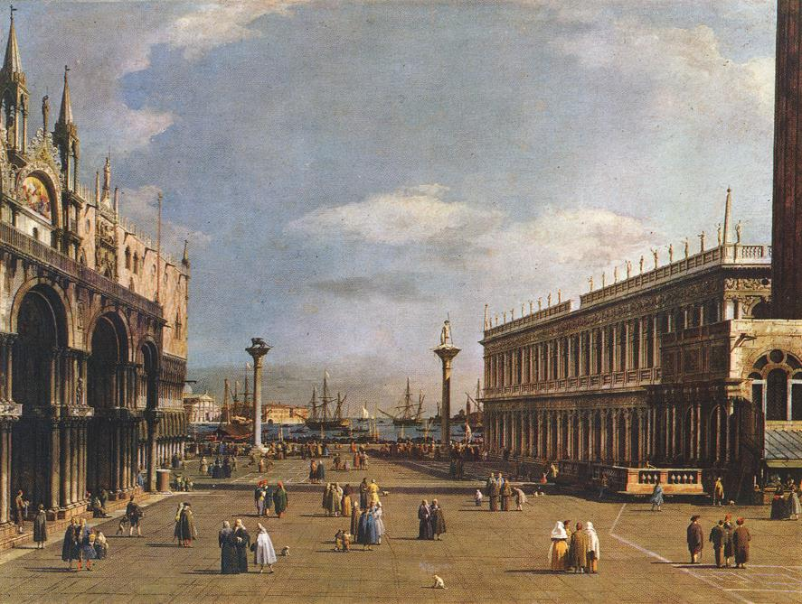 The Piazzetta 1733-35 | Canaletto | Oil Painting