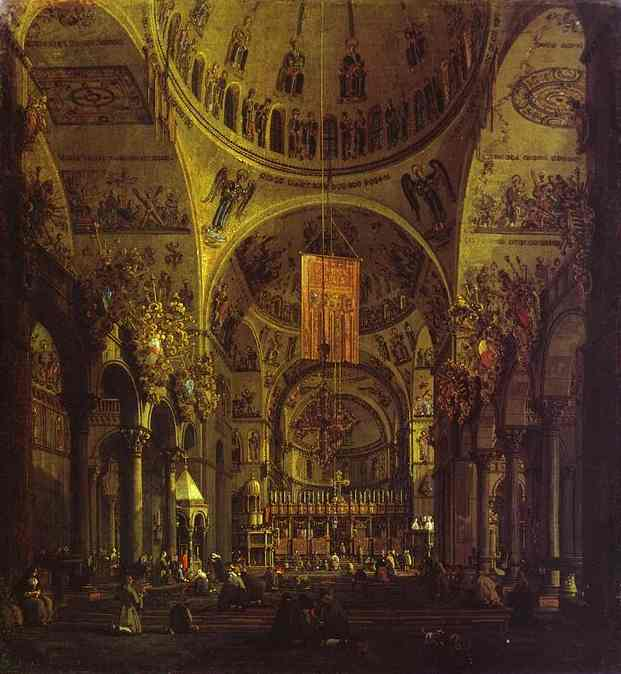 San Marco The Interior 1755 | Canaletto | Oil Painting