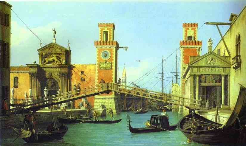 The Arsenal The Water Entrance 1732 | Canaletto | Oil Painting