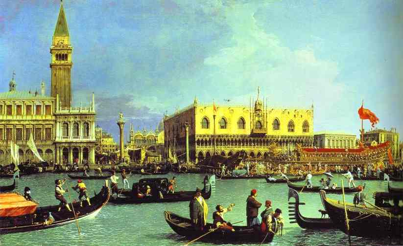 The Bucintoro At The Molo On Ascension Day 1732 | Canaletto | Oil Painting