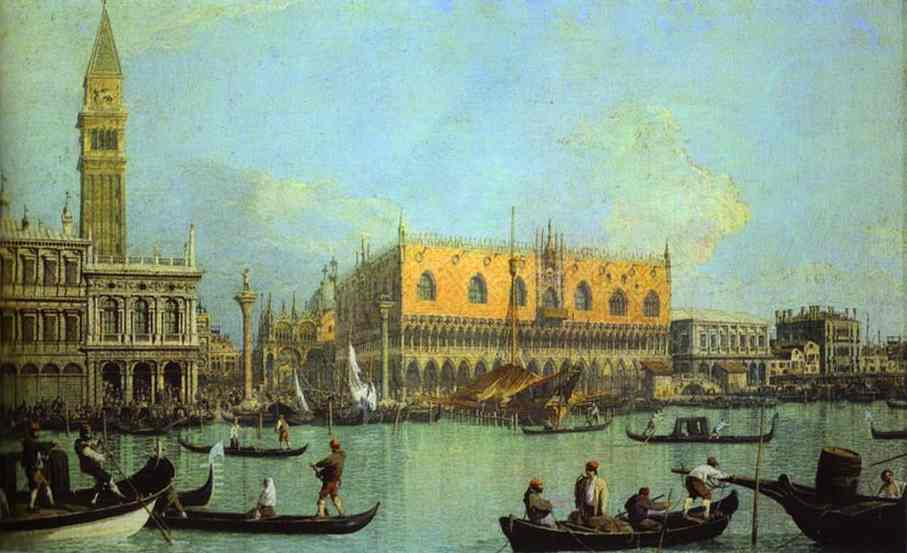 The Bucintoro At The Molo On Ascension Day 1 1732 | Canaletto | Oil Painting