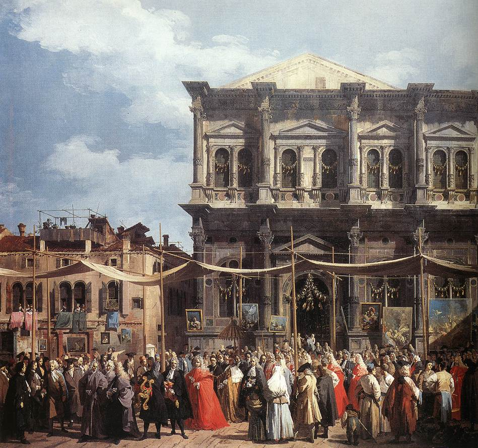 The Feast Day Of St Roch (Detail) C 1735 | Canaletto | Oil Painting