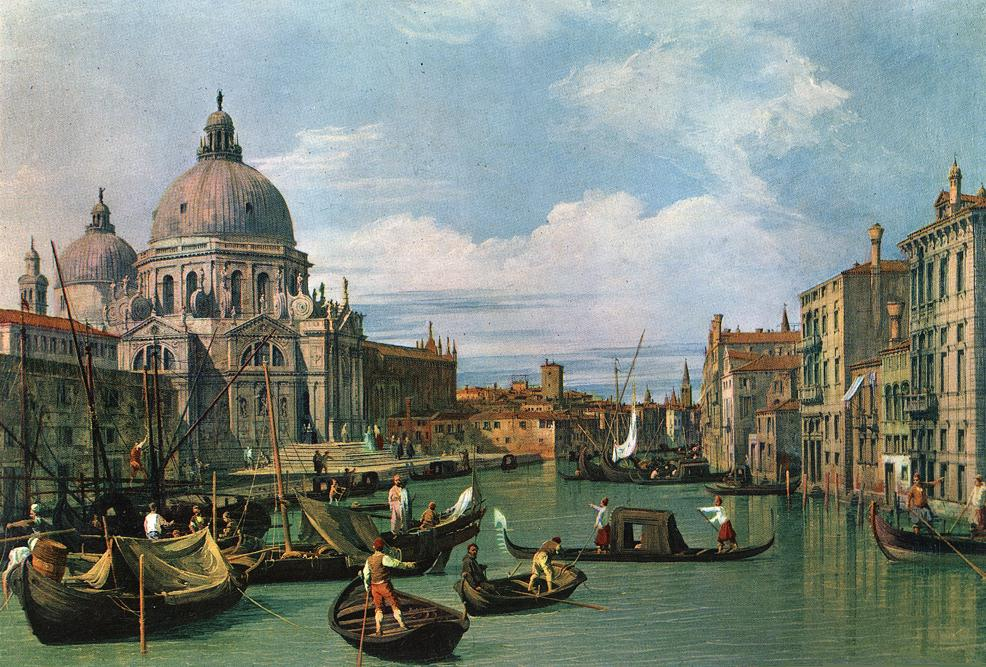 The Grand Canal And The Church Of The Salute 1730 | Canaletto | Oil Painting