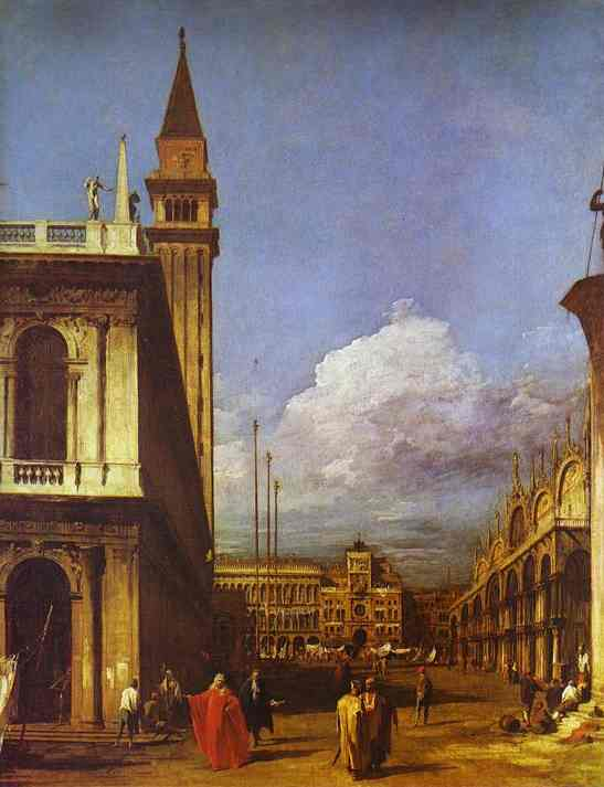 The Piazzetta Looking North 1727 | Canaletto | Oil Painting