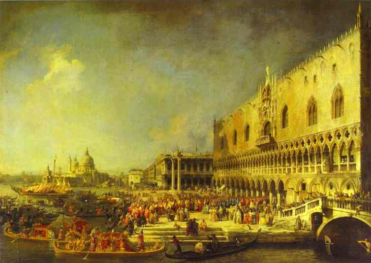 The Reception Of The French Ambassador In Venice 1740s | Canaletto | Oil Painting