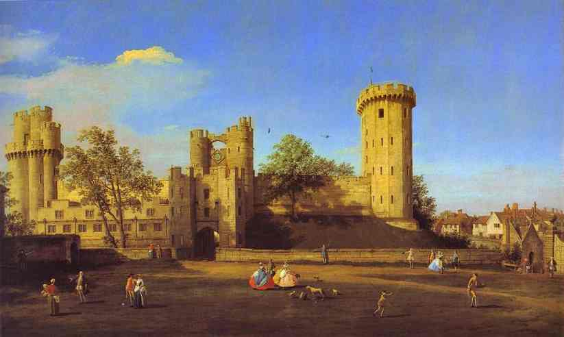 Warwick Castle The East Front 1752 | Canaletto | Oil Painting
