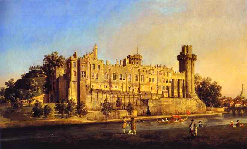 Warwick Castle The South Front 1748 | Canaletto | Oil Painting