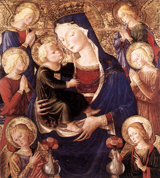 Virgin And Child With Angels 1477-79 | Caporali | Oil Painting