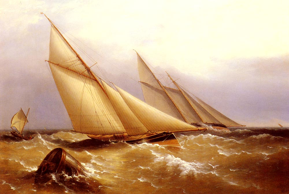 A Schooner And Cutter Yacht | Captain Richard Brydges Beechey | Oil Painting