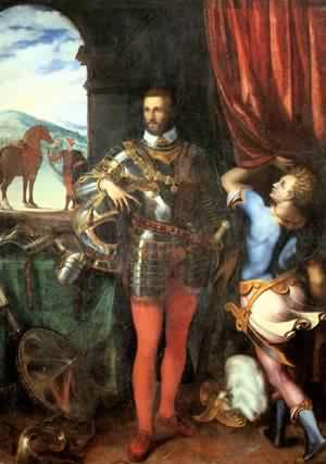 Portrait Of Ottavio Farnese C 1551 | Cariani | Oil Painting
