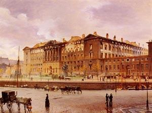Christiansborg Slot Efter Branden | Carl Christian Andersen | Oil Painting