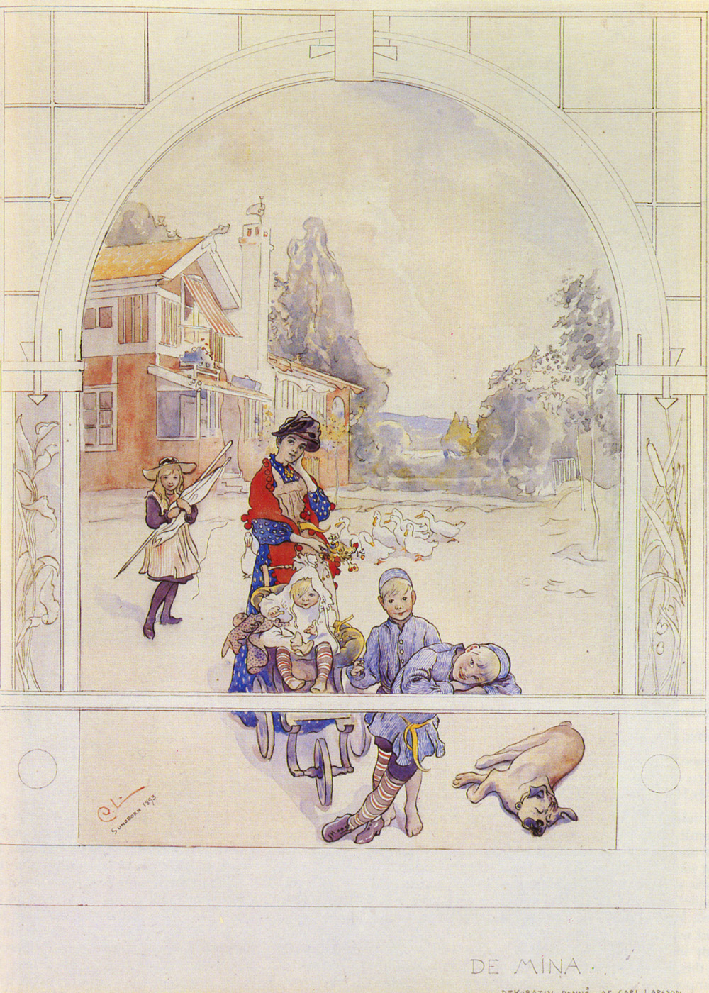 My Loved Ones   Carl Larsson   Oil Painting