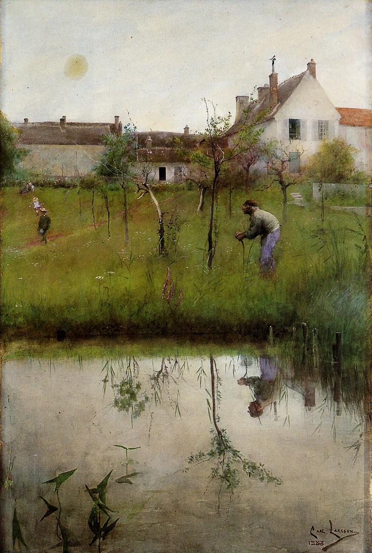 The Old Man and the New Trees 1883 | Carl Larsson | Oil Painting
