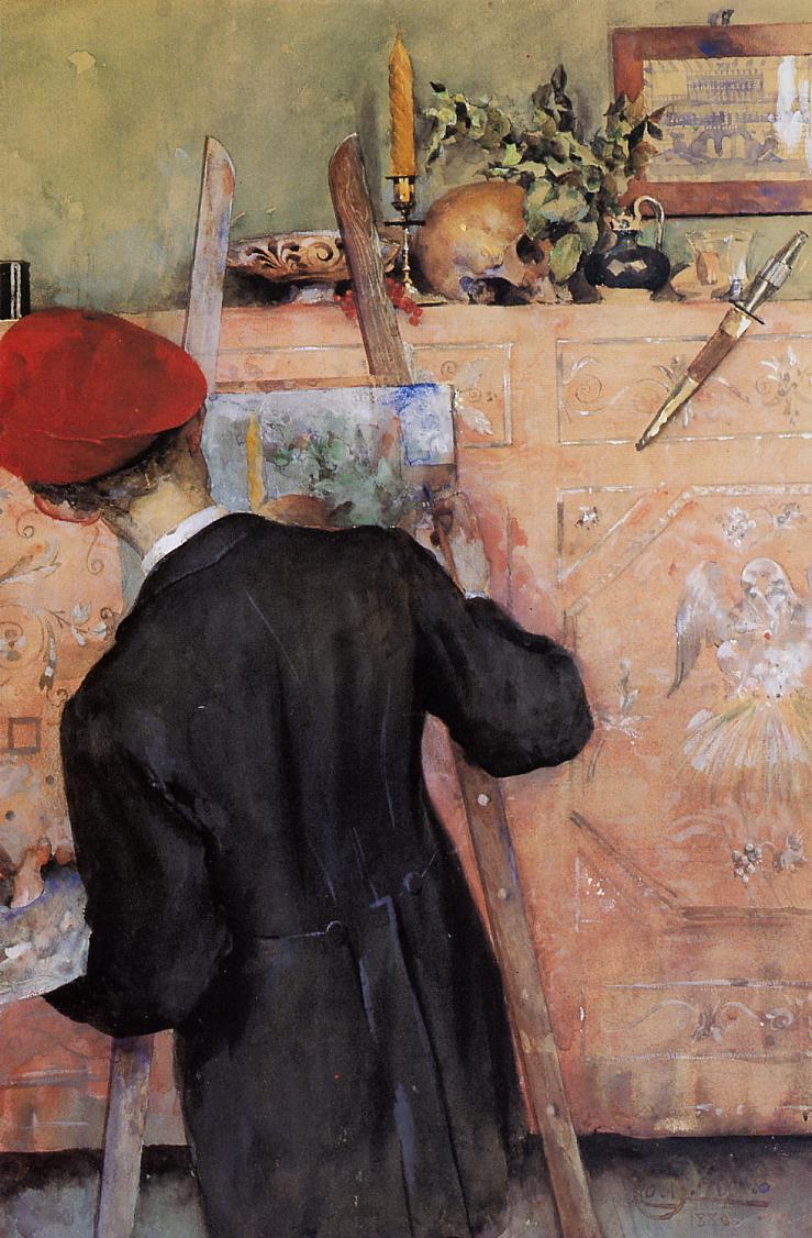 The Still Life Painter 1886   Carl Larsson   Oil Painting