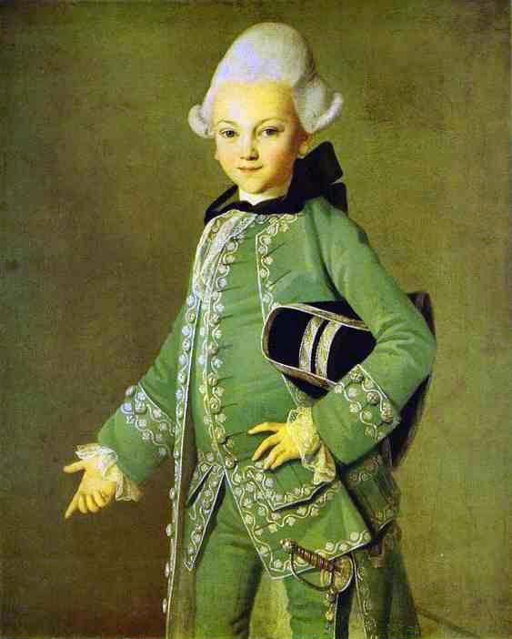Portrait Of Alexey Bobrinsky As A Child | Carl Ludwig Johann Christinek | Oil Painting