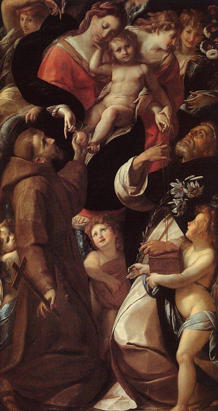 Madonna And Child With Saints And Angels | Carlo Antonio Procaccini | Oil Painting
