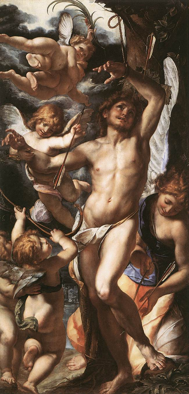 St Sebastian Tended By Angels 1610 | Carlo Antonio Procaccini | Oil Painting