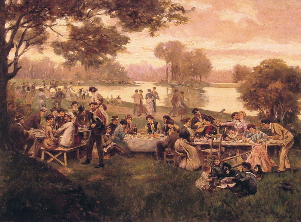 Luncheon on the Grass | Carlo Branaccio | Oil Painting
