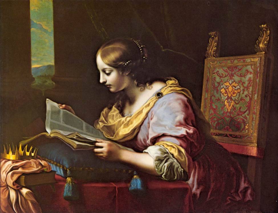St Catherine Reading A Book | Carlo Dolci | Oil Painting