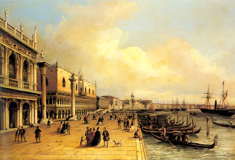 A View Of The Doges Palace | Carlo Grubacs | Oil Painting