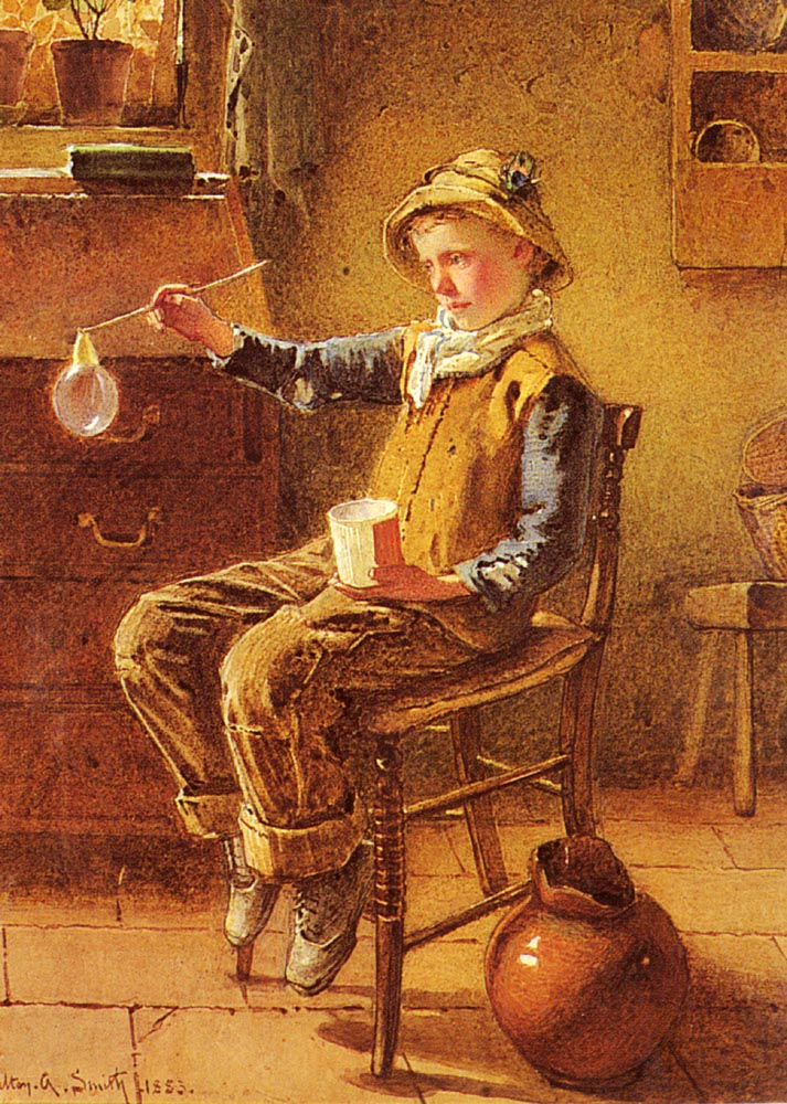 Blowing Bubbles | Carlton Alfred Smith | Oil Painting