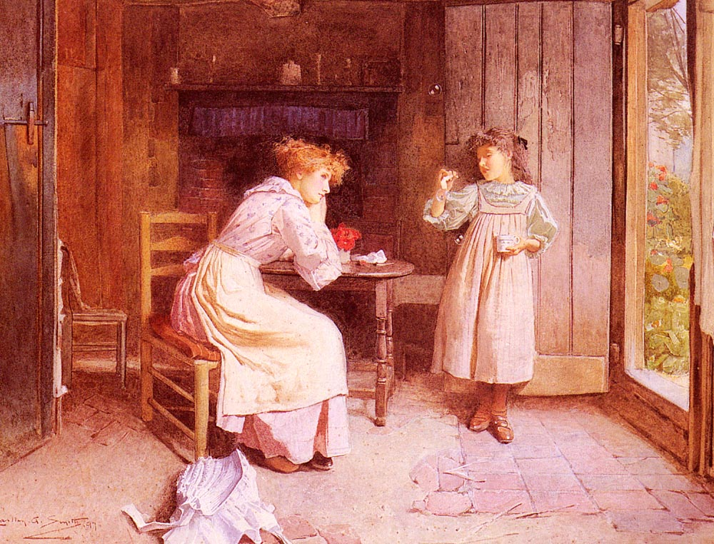 Blowing Bubbles 2 | Carlton Alfred Smith | Oil Painting