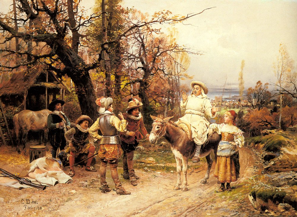 A Halt Along The Way | Cesare Auguste Detti | Oil Painting