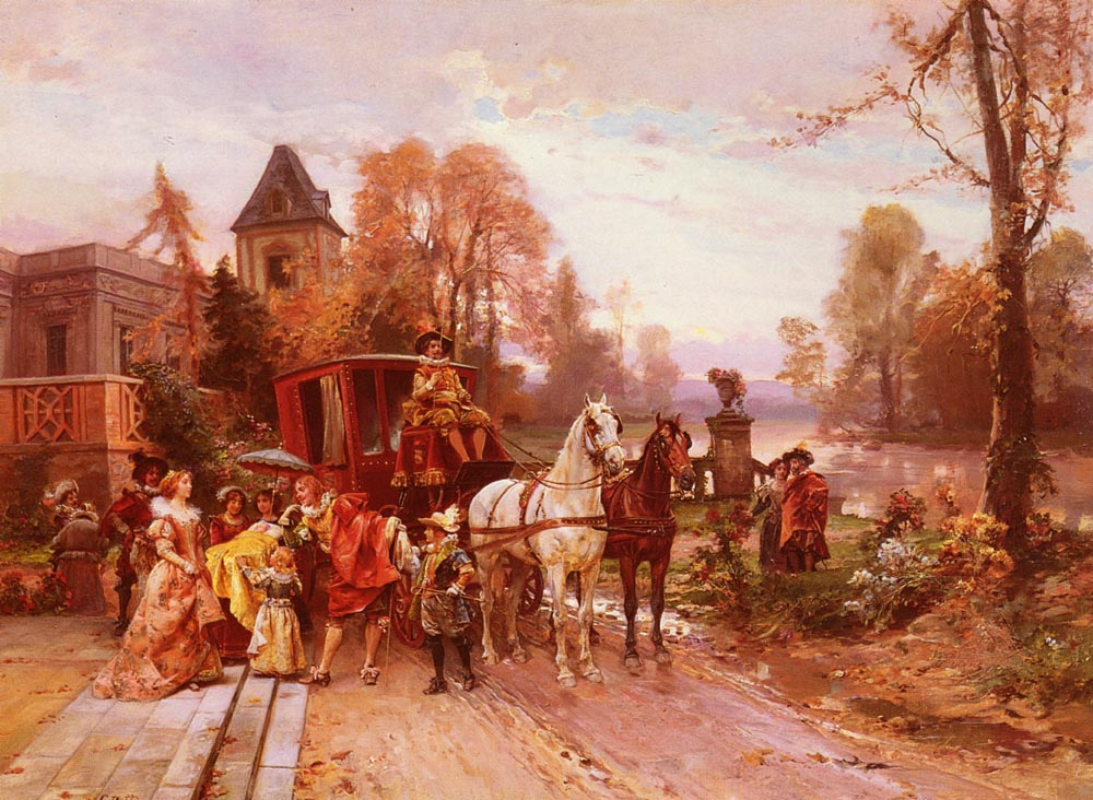 The Arrival Of The Baby | Cesare Auguste Detti | Oil Painting