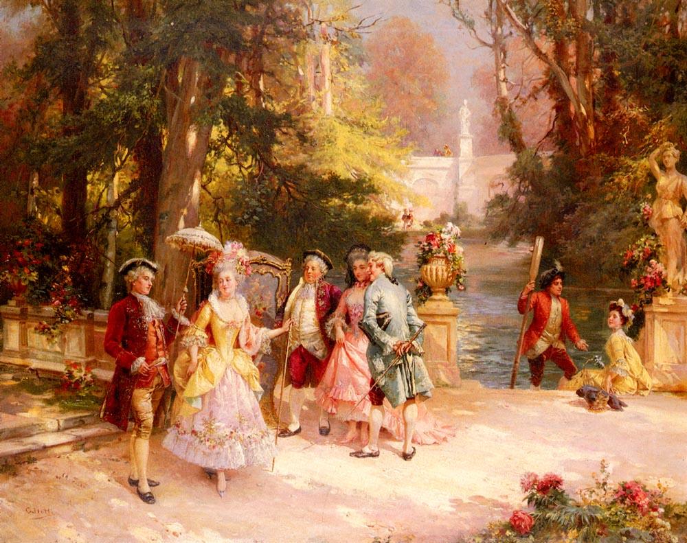 The Castle Garden | Cesare Auguste Detti | Oil Painting