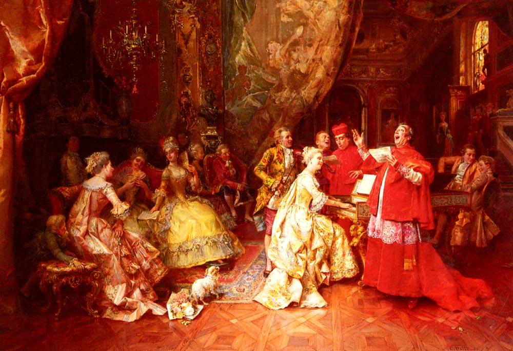 The Gala Recital | Cesare Auguste Detti | Oil Painting