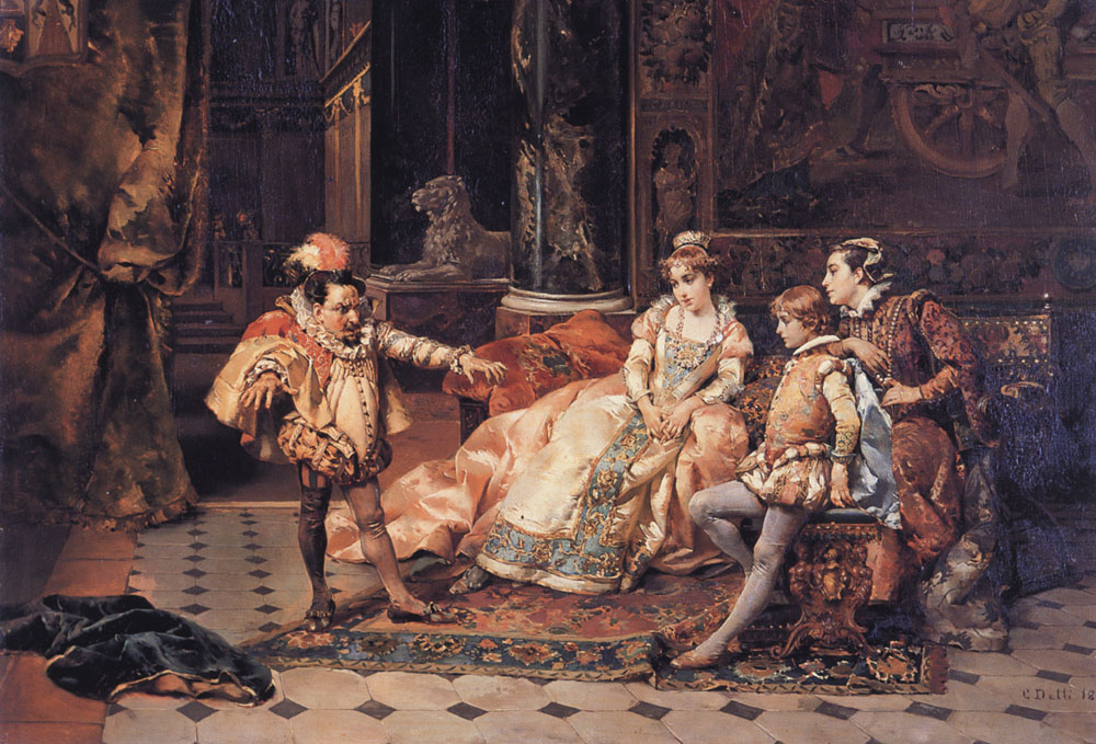 The Court Jester | Cesare Auguste Detti | Oil Painting