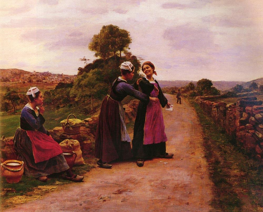 La Lettre | Cesar Pattein | Oil Painting