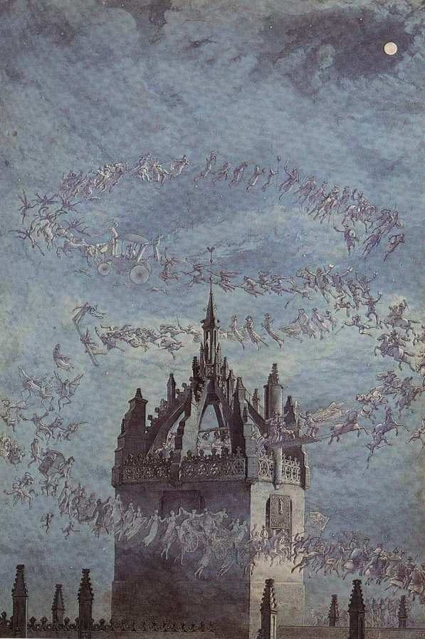 St Giles His Bells   Charles Altamont Doyle   Oil Painting
