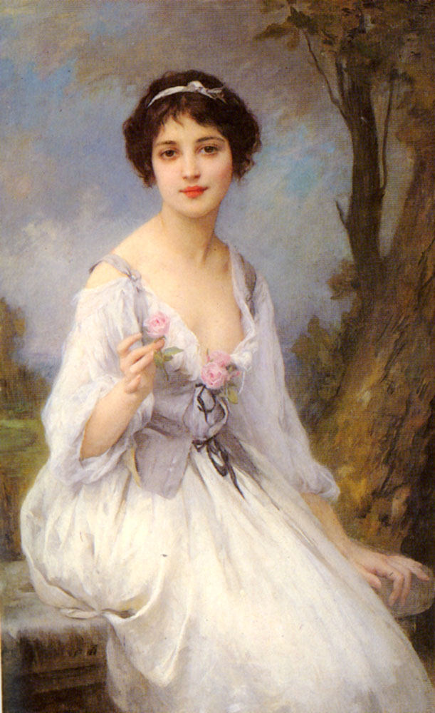 The Pink Rose | Charles Amable Lenoir | Oil Painting