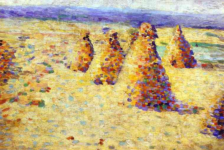 Hay Ricks In Normandy | Charles Angrand | Oil Painting