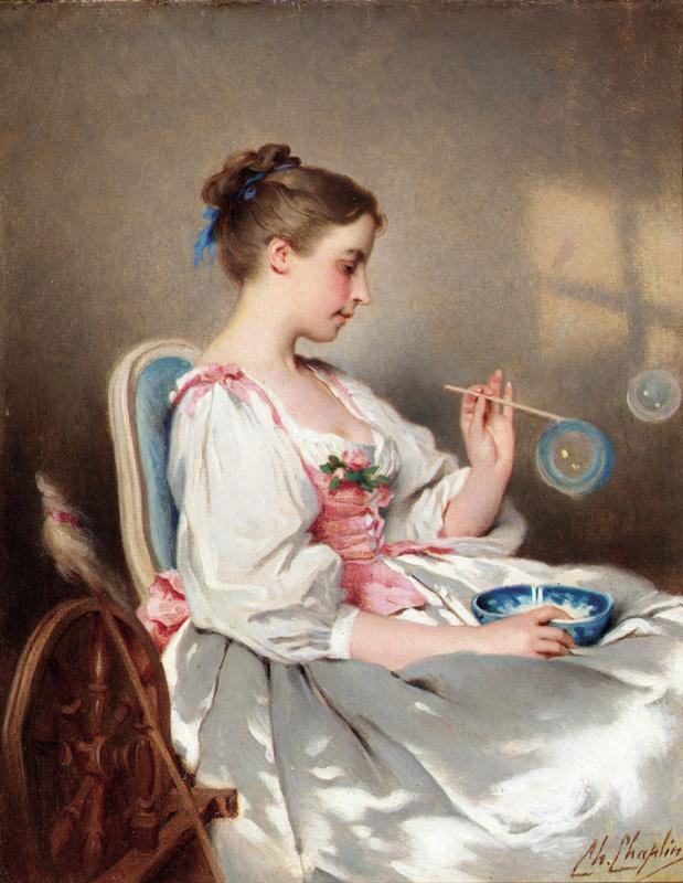 Blowing Bubbles | Charles Chaplin | Oil Painting